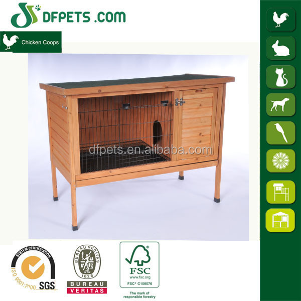 Competitive Wooden Rabbit Cage with Metal Floor