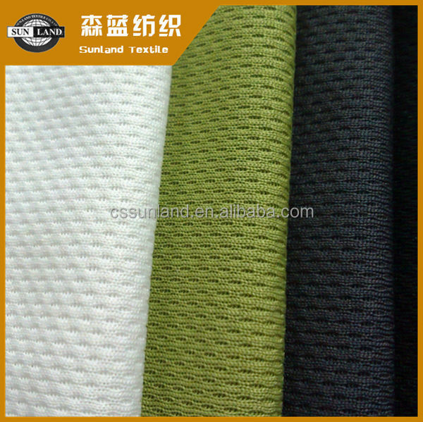 knitted 100 polyester moisture management birdeye mesh fabric