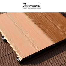 Natural environmental protection outdoor portable co-extrusion wpc decking board for Recreation area
