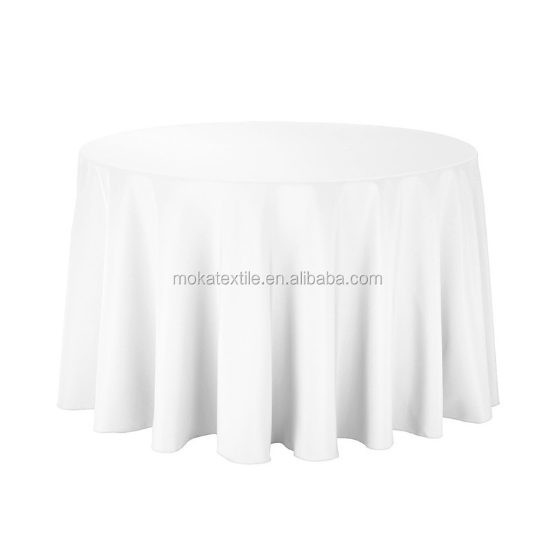 Table Cloth Factory White Round Polyester Table Cloth For Sale