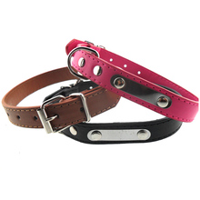 Supply Wholesales Making Metal Sheet Decorative Soft Faux Leather Pet Dog Collar for Dog Lead