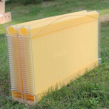SALES!!!Beekeeping 7pcs food grade plastic honey flow bee hive frame combs kit