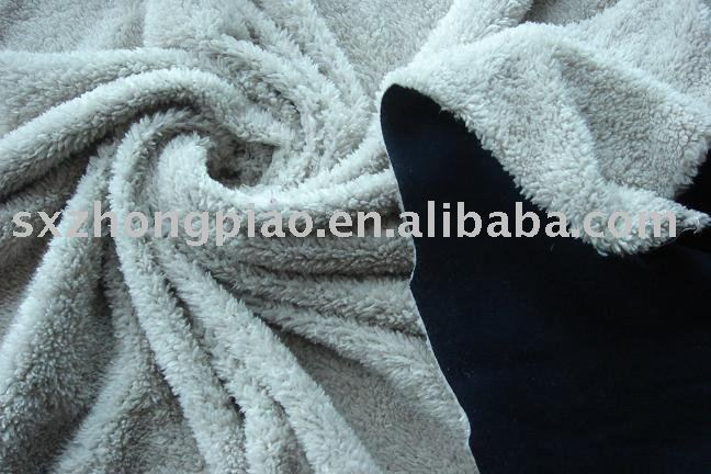 Knitted Fabric Bonded with coral Fleece Fabric