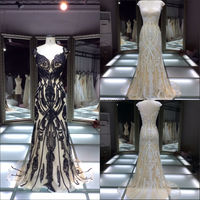2014-2015 latest cap sleeve designer evening gown/ hot sale alibaba china black white formal new fashion real evening dresses