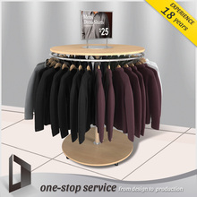 United States Supermarket Oem Customized Mdf Metal Acrylic T-Shirt Rotating Display Cases Rack Hanging Display Stands