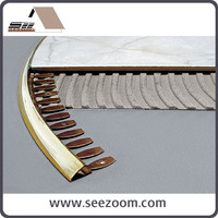Hot Selling Flexible Aluminum flooring tile trim