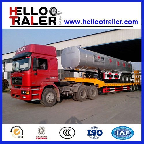 CIMC Aluminum Fuel Tank Semi Trailer/Insulation Oil Liquid Semi-Trailer with tanker volume 41M3