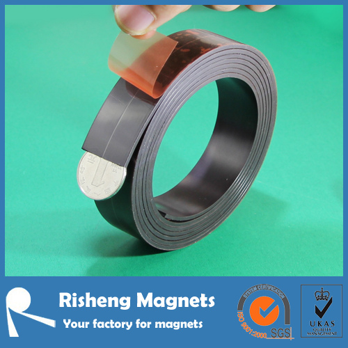 rubber magnet tape flexible magnetic adhesive strips roll china supplier
