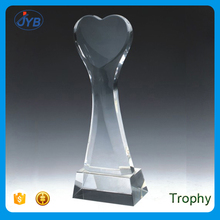 professional trophy maker custom shape 3d laser fine heart shape trophy