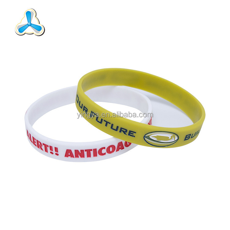 2017 environmental factory price debossed silicone wristband