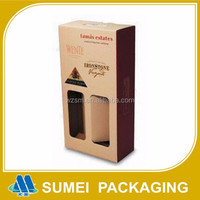 Customized high quality wine glass bottle cardboard gift box