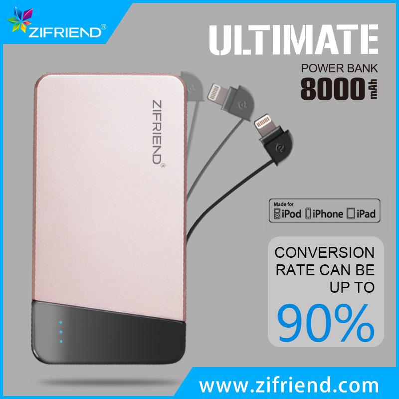 latest 8000mah usb quick charge power bank price list