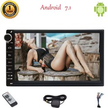 7 inch Android Nougat 7.1 System Octa-Core Car Stereo 2G RAM in Dash GPS Navigation Bluetooth Autoradio Support WIFI OBD USB/SD