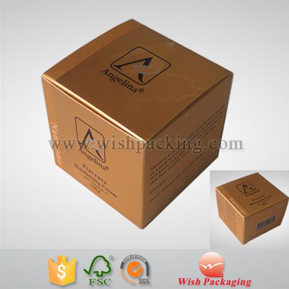Embossing hotstamping logo metallic gold cardboard paper fragrance box