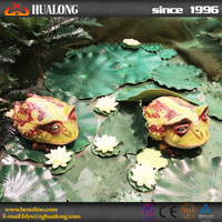 Life-size simulation animals artificial frog for park decoration