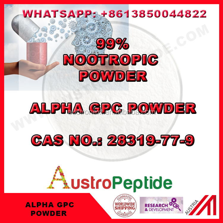 5kg Alpha-GPC, Choline Alfoscerate ,CAS 28319-77-9 free shipping safe delivery to UK , USA