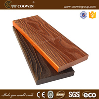 3D embossing Outdoor WPC Composite Solid Decking