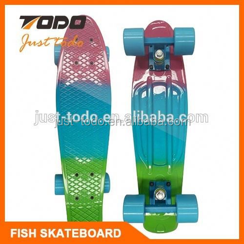 2016 PU Wheel fiberglass skateboard for street playing