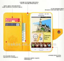 Korea style wallet leather case For Samsung galaxy S3