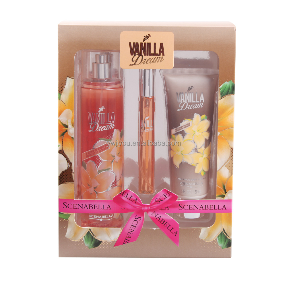 Vanilla Dream brand body splash gift sets ----SCENABELLA