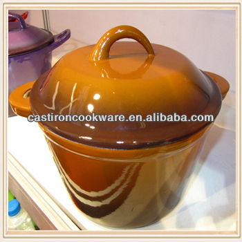 High Quality Enamel Coated Cast Iron Casserole Pot / Cast Iron Cookware
