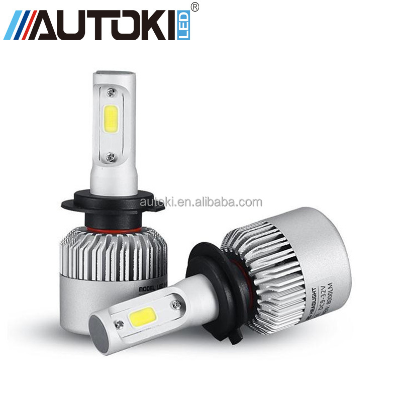 AUTOKI Plug&Play COB H7 LED Headlight 72W 8000LM All In One Car LED Headlights Bulb Head Lamp Fog Light 12V Auto Replacement