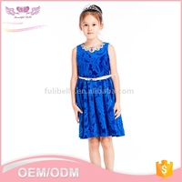 Wholesale custom kids children short frock latest net dresses designs 15 year girl without dress