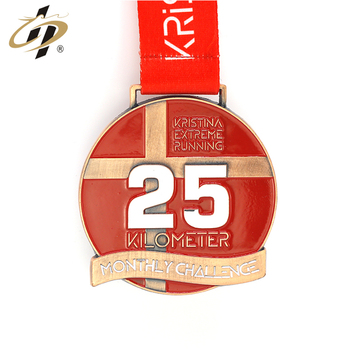 2018 Custom antique copper metal  running sport medals