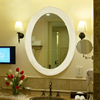 Touch Sensor Switch Oval Shape Illuminated Hotel Lighted Vanity Mirror