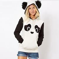 Walson chiese factory wholesale fleece lovely long sleeve cute warm winter spring printing nifty panda hoodies with hood