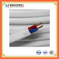 flat type sheath electric wire BVVB 2 CORE with earth ground wire