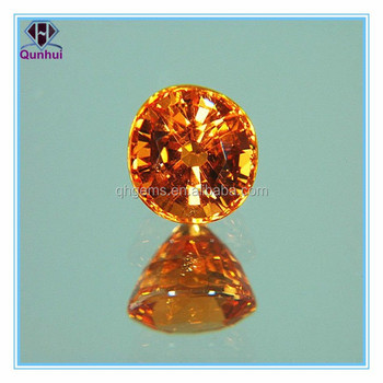 Amazing golden oval shaped cubic zirconia gems