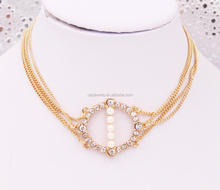 Rhinestone pendant chain loop choker, fashion choker