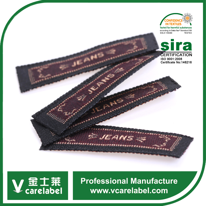 Wholesale Cheap Nylon Custom Brand Name Woven Clothing Labels / Shoes woven label / bags woven label
