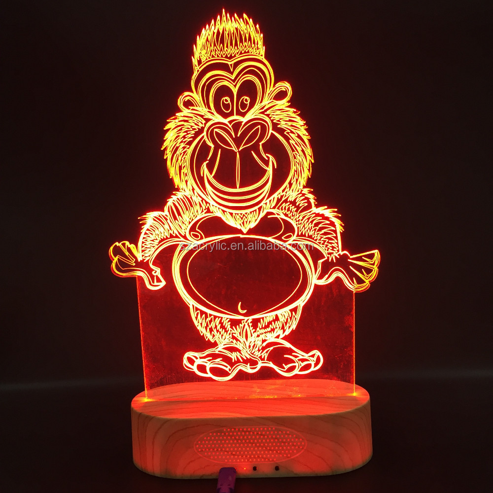 christmas acrylic table lamp 3d led light for Christmas