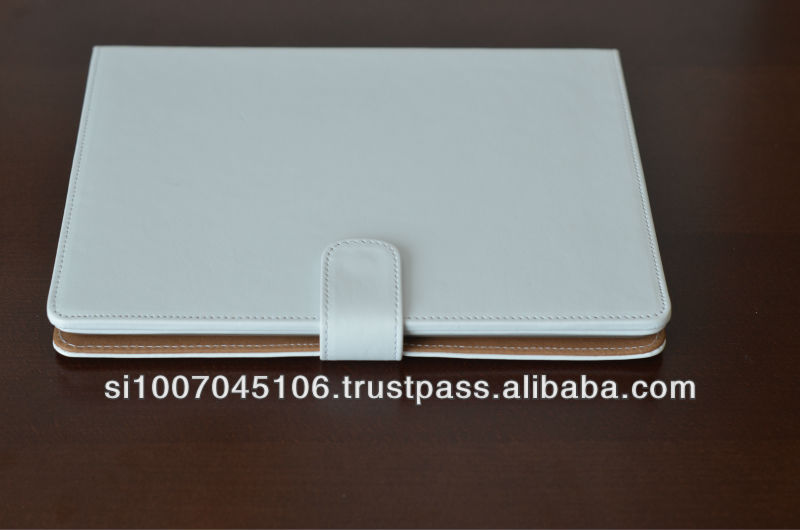 Genuine vegetable tanned leather tablet case