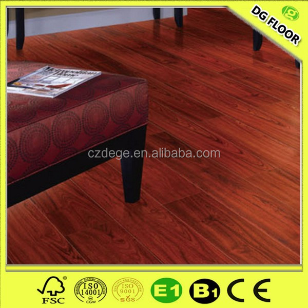 High Light 8mm/12mm Mahogany Laminate Flooring