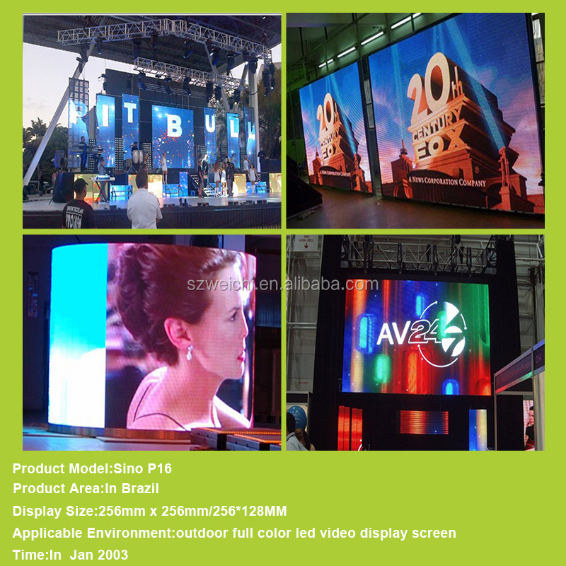 hd video display p10 indoor full color led billboard