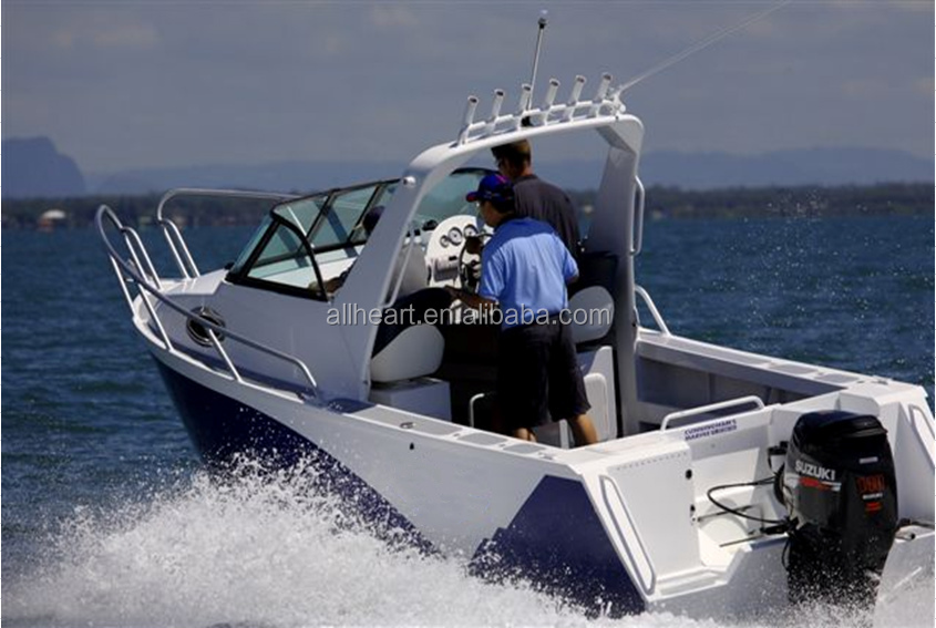 Aluminum fishing boat 19ft wholesale alloy targa cabin for Aluminum boat with cabin for sale