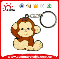 souvenir custom made soft pvc key ring