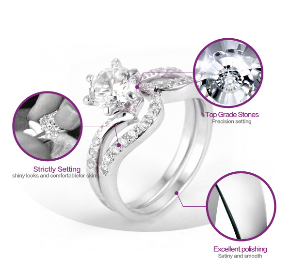 New arrival top cubic zircon stone latest wedding ring designs