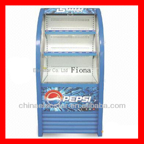 Supermarket commercial drink open front cooler, food cooling front open cooler/ open air cooler