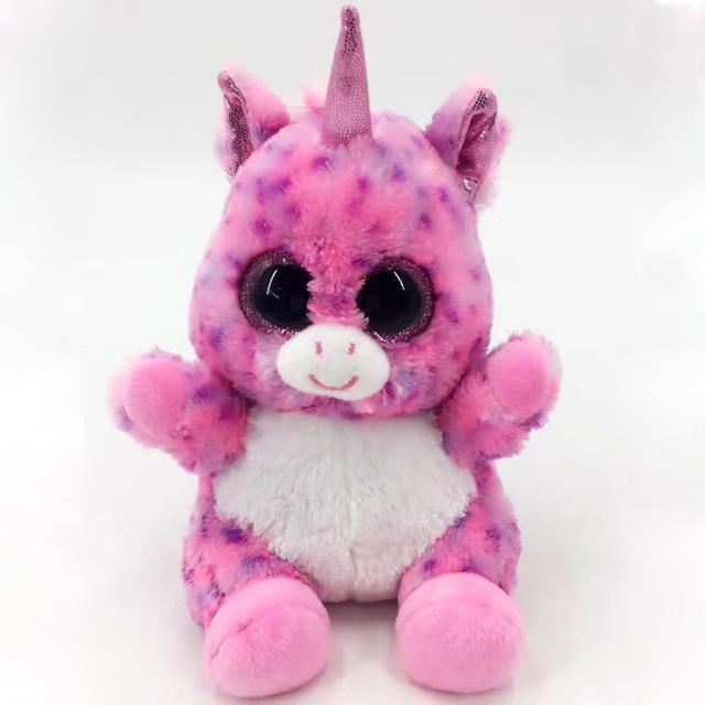 Colourful Unicorn Stuffed Plush Toy Animal Soft Toy With 3D Eye