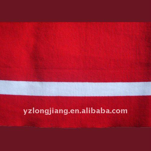 red cashmere rib used for coats