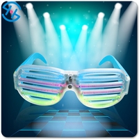 promotion giveaway special customized voice control led sunglasses for wedding & night party decoration, customized advertising