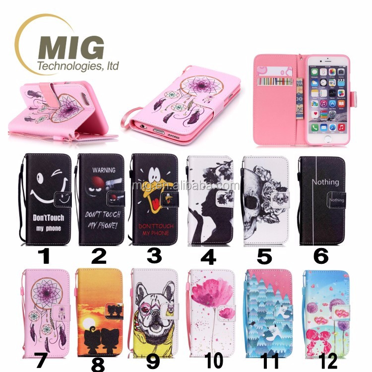 for iphone 4 leather case For iphone 4s colored drawing flip cover case soft silicone case inside Mobile phone cover 12 color
