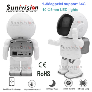 smart home security 1.3M support 64G robot wifi wireless ip camera