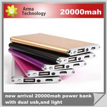 2015 Ultrathin 20000mAh Portable External Battery Charger Power Bank for Cell Phone High Quality