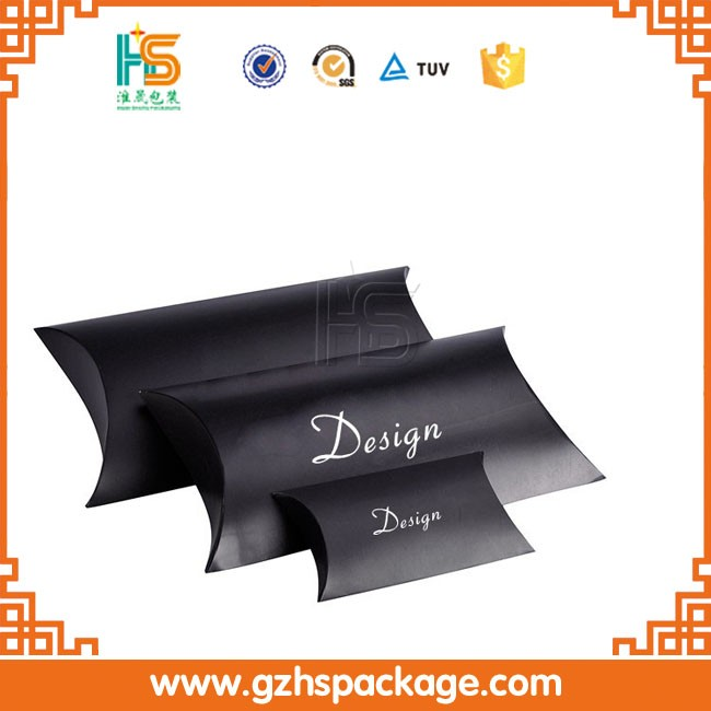 Hot!!! Matte black foldable corrugated large pillow packaging shipping boxes
