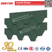 Construction Material Asian Green 5-tab Asphalt Shingle Prices